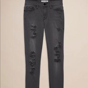 FRAME Le Colour Rip Grey jeans